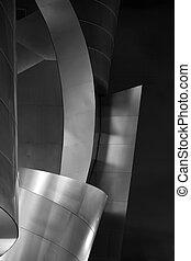 detalhes arquitetônicos, de, bonito, edifício moderno