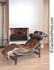 detalhes, com, cadeira lounge