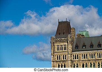 detalhes, de, a, arquitetura, de, a, parlamento canadense