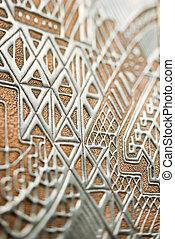 detalje, i, tekstur, wall.