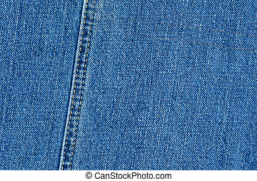 detaljerad, blåttbakgrund, jeans, denim, -, struktur, hög, thread's, söm, dubbel, kvalitet, abstrakt