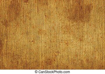 detaljerad, gammal, rostig, grov, åldrig, närbild, struktur, kanfas, säckväv, tyg, utrymme, årgång, fläckat, rustik, grungy, beige, brun, grunge, bakgrund, strukturerad, horisontal, avskrift, naturlig, makro, specificera, linne, smutsa ner, mönster, rosta