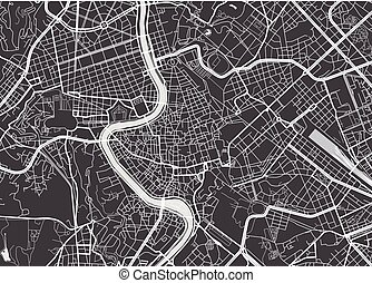 detaljerad, karta, vektor, rom