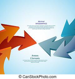 detaljerad, vara, använd, layout, abstrakt, arrows., ...