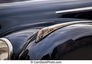 detaljerna, av, årgång, bilar