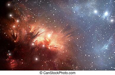 detallado, más, nebulosa, espacio