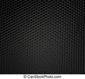 detallado, micro, negro, panal