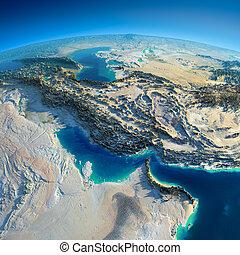 detallado, persa, earth., golfo