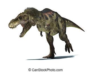 detallado, recorte, rex, tyrannosaurus, muy,...