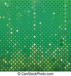 detallado, resumen, vector, fondo verde