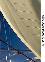detalle, casco barco, muelle seco