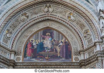 detalle, de, catedral, santa maría del fiore