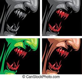 detalle, de, vampiro