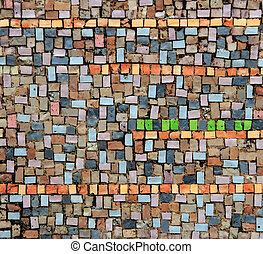 detalle, mosaico