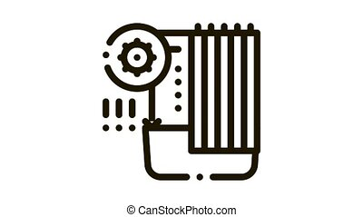 detection of sanitary problems in bathroom Icon Animation. black detection of sanitary problems in bathroom animated icon on white background