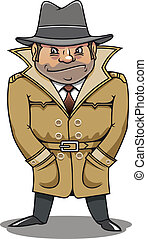 Detective agent or spy man for security or police concept...