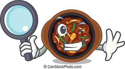 Detective bulgogi in a the bowl cartoon