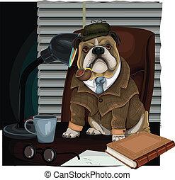 detective, bulldog