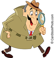 Detective - Cartoon detective