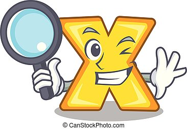 Detective cartoon multiply of a delete sign