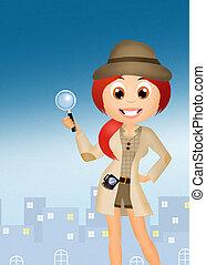 Detective - illustration of detective