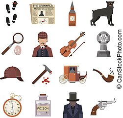 Detective crime vector illustration.
