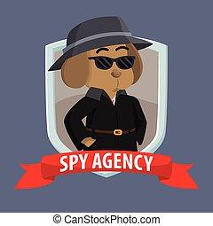 detective dog inside shield emblem