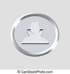 detective icon - 3d detective icon