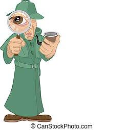 detective, illustratie