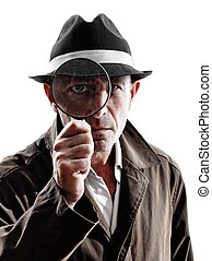 detective man criminal investigations silhouette - one...