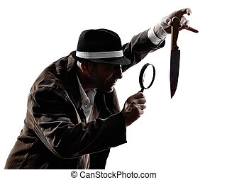 detective man criminal investigations silhouette - one ...