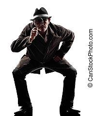 detective man criminal investigations  silhouette