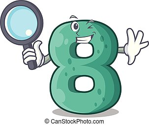 Detective number house eight the shaped character