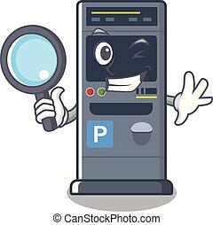 Detective parking vending machine the cartoon shape