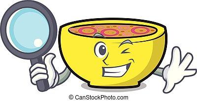 Detective soup union character cartoon