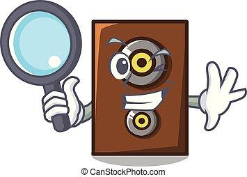 detective, spreker, stijl, karakter, spotprent