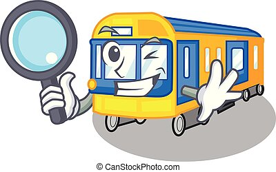 Detective subway train toys in shape mascot
