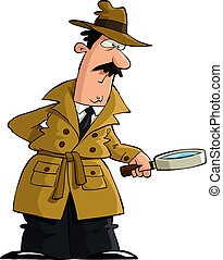 Detective - The detective looked through a magnifying glass...