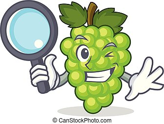 detective, uvas verdes, carácter, caricatura