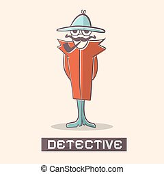 Detective Vector Illustration