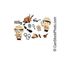 Detective Vector Set