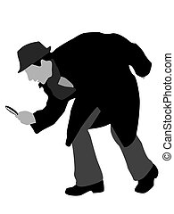detective, vergrootglas