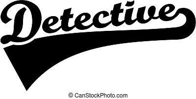 Detective word retro