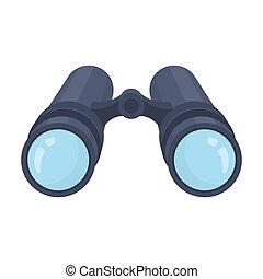 detective.detective, stijl, illustration., symbool, enveloppe, enkel, brief, inside.a, rater, pictogram, spotprent, liggen
