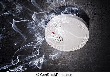 detektor, rauchwolken
