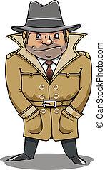 detektyw, szpieg, albo, przedstawiciel, człowiek