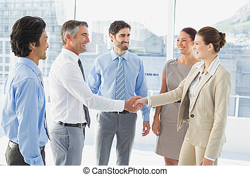detenere, riunione, affari, employee's