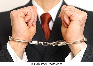 detenido, hombre de negocios