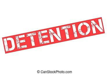 Detention typographic stamp
