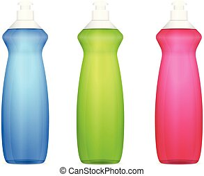 Detergent bottle set